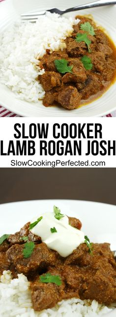 Homemade Slow Cooker Lamb Rogan Josh - Incredible Homemade Slow Cooker Lamb Rogan Josh – Slow Cooking Perfected Informations About Homema - Slow Cooking, Slow Cooked Meals, Cooking Brisket, Crockpot Recipes, Cooking Recipes, Healthy Recipes, Slow Cooker Lamb Recipes, Crockpot Lamb, Barbecue Recipes