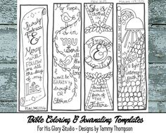 bible bookmarks to print and color black and white pdf 3 printable sketches