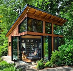 33 Gorgeous Tiny House Interior Design And Decor Ideas - New ideas Tiny House Cabin, Tiny House Plans, Tiny House Design, Wooden House Design, Tiny House Kits, Shed Cabin, Cozy House, Harrison Design, Casas Containers