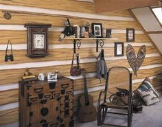 Faux Wood Log Cabin Wallpaper 145 41382 Wallpaper Border Wallpaper