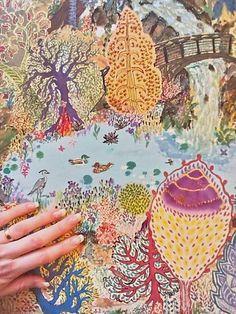 sacharin / V lesoch...-exkluzívna maľovaná hodvábna šatka