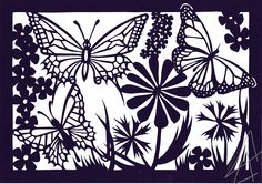 Summer Butterfly's - paper cutting art (Made by Angela van Gils)