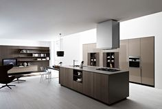 Interior Design, Exclusive Decor Minimalist Kitchen Storage Units: Contemporary minimalist kitchen design picture