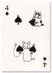 Card fluffy cat pottering