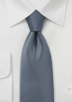 Carbon Grey Necktie @ Bows-n-ties.com