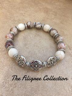 A personal favorite from my Etsy shop https://www.etsy.com/listing/513877368/gemstone-filigree-bracelet