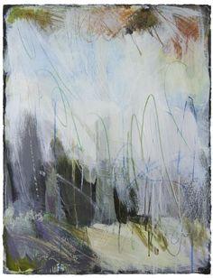"Ellen Levine Dodd - ""Cove Fog 2"" - 22"" x 30"" - acrylic mixed media on cotton rag paper - available at Anne Neilson Fine Art"