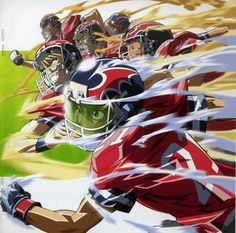 Eyeshield 21~~ I'm reading the manga right now but never saw any of the anime. Weird, huh?