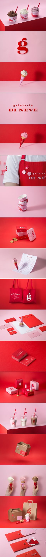 Gelateria Di Neve gelato shop brand identity by Work Room Brand Identity Design, Corporate Design, Design Agency, Branding Design, Logo Design, Corporate Identity, Layout Design, Graphic Design Print, Graphic Design Illustration