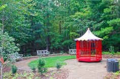 Also from Daniel Stowe's home, the Aviary allows children to spin around in a garden that is designed to attract birds.