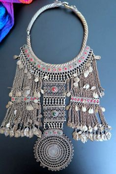 Old Afghan Laghmani Tribal Jewellery Torc Necklace