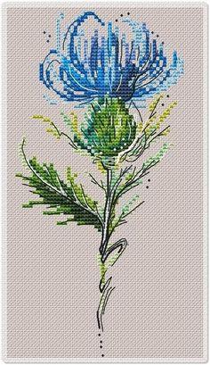 Anna Wasilewskaia - My site Easy Cross Stitch Patterns, Cross Stitch Bird, Simple Cross Stitch, Cross Stitch Flowers, Cross Stitch Charts, Cross Stitch Designs, Cross Stitching, Cross Stitch Embroidery, Embroidery Patterns