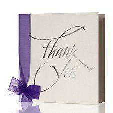 Kirsten Burke's 'Vienna' purple wedding thank you card
