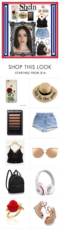 """SheIn"" by angelihenkle ❤ liked on Polyvore featuring Levi's, Linda Farrow, Beats by Dr. Dre, Disney Couture and Schutz"
