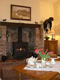 Inglenook Fireplace in The Saddlery Self-Catering Lounge