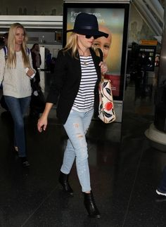 Reese Witherspoon is seen at JFK airport on May 03, 2015 in New York City.