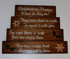 Christmas in heaven sign by cordofthreebybob on Etsy