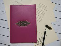 Книга стихотворений из натуральной кожи — Ягодная элегантность