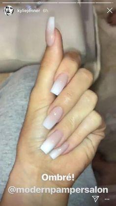 Nails / Acrylic nails / False nails / Kylie Jenner nails / Luxury nails / Nail d. Ongles Kylie Jenner, Uñas Kylie Jenner, Jenner Hair, Kylie Nails, Long Square Nails, Square Acrylic Nails, Square Nail Designs, Short Nail Designs, Fingernail Designs