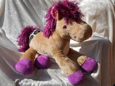 PLUM PONY PLUSH Decor Handmade Horse beige by TALLhappyCOLORS
