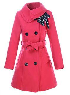 #Clothing  #Outerwears ,Latest Sweet Korean Slim Double Lapel Leisure Woolen Women's Overoat.
