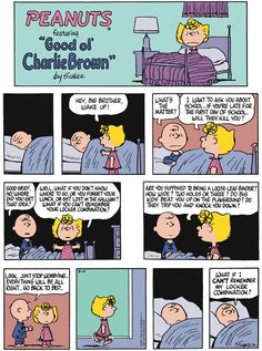 """Charles M. Schulz's classic """"Peanuts"""" looks at the lives of Charlie Brown, Snoopy, and other favorite characters. Snoopy Cartoon, Snoopy Comics, Sad Comics, Peanuts Cartoon, Cartoon Memes, Peanuts Gang, Funny Comics, Peanuts Comics, Cartoons"""