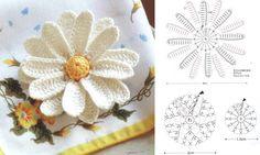 Hermosa margarita para colocar a un cojín o lo que a ti se te ocurra infaltable esta bella flor en tus proyectos | Gaby2723