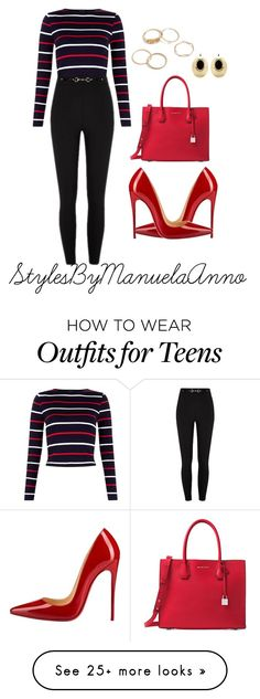 """Untitled #137"" by stylesbymanuelaanno on Polyvore featuring Christian Louboutin, Michael Kors and Anton Heunis"