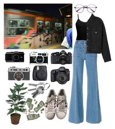 """""""Untitled #16"""" by alexmazarakh on Polyvore featuring Fuji, BKE core, Nikon, Eos, Chloé, adidas and Topshop"""