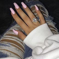 Summer Acrylic Nails Coffin Discover 41 Pretty Acrylic Coffin Nails Design You Need To Try Summer Acrylic Nails, Best Acrylic Nails, Summer Nails, Light Pink Acrylic Nails, Coffin Acrylic Nails, Pastel Pink Nails, Coffin Nails Designs Summer, Barbie Pink Nails, Classy Acrylic Nails