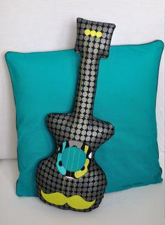 Coussin Pillow guitare fikOu miKou
