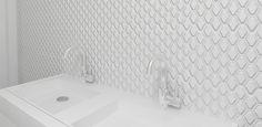 Athens Glossy White 3D Diamond Porcelain Mosaic