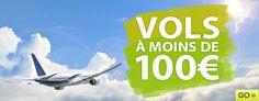 Go Voyage promo vol pas cher, avec Go Voyages billets d'avion pas cher à moins de 100 euros.
