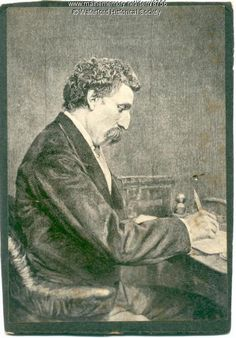 Artemus Ward (Charles F. Brown), ca. 1865. Born in Waterford, ME, Ward was a favorite of Abraham Lincoln and influenced Mark Twain's approach to satire. Item # 8756 on Maine Memory Network
