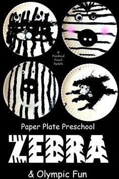 Zebra art project for preschoolers! Great fine motor exercise & Olympics tie-in! Plus, preschoolers canmake it all by themselves! Zoo Activities Preschool, Preschool Jungle, Jungle Crafts, Zoo Animal Crafts, Preschool Art Projects, Animal Art Projects, Jungle Art Projects, Bears Preschool, Preschool Classroom