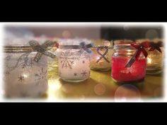 Chissà quante di voi hanno in casa una cifra sconsiderata di barattoli di vetro, che sono li conservati in attesa di essere riutilizzati in qualcosa di Mason Jars, Christmas Crafts, Diy Crafts, Table Decorations, Paper, San Valentino, Mamma, Tutorial, Youtube