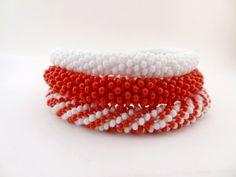 Nepal Roll on Bracelets Bangles / Red and by lesperlesdeDiamanda