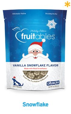 Fruitables Vanilla Snowflake Dog Treats! arriving in time for stocking stuffers!