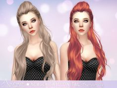 Sims 4 CC's - The Best: Swallow Tail Hair Retexture by AveiraSims