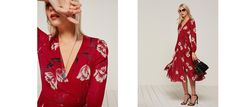 You& a fucking lady. This is a fully lined midi-length wrap dress with elastic cuffs. Red Midi Dress, Dress Up, Ethical Fashion, Fashion Brands, Floral Tops, What To Wear, Wrap Dress, Kimono Top, Style Inspiration
