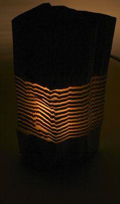 Sculpture sur bois récupéré illuminé Art par SplitGrain sur Etsy