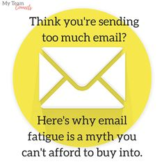 The Email Fatigue Myth: Why Higher Frequency is a Good Thing Email Marketing, Content Marketing, Campaign, Letters, Good Things, Medium, Inbound Marketing, Fonts, Letter