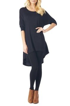 Women'S Rayon Span High & Low Tunic with 3/4 Sleeves - Solid (Click The Image To Buy It)