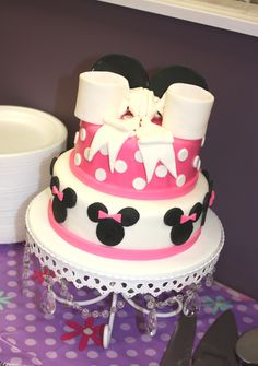 Minnie Cake (Clara's 1st Birthday). Minnie Mouse Birthday