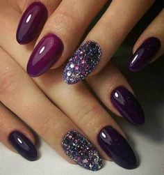 Nail Designs 2020 Fall Collection pin cortney paul berl on nail it in 2020 fall acrylic Nail Designs 2020 Fall. Here is Nail Designs 2020 Fall Collection for you. Nail Designs 2020 Fall 150 popular fall nail colors for 2019 177 cynthiapin. Popular Nail Colors, Cute Nail Colors, Fall Nail Colors, Winter Colors, Nail Art Violet, Purple Nail Art, Purple Glitter, Purple Makeup, Pink Nail