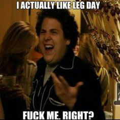 I actually do like leg day. Lol. I love jump squats.