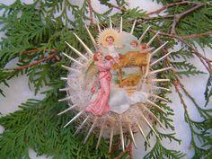 Rare Antique Nativity Scrap German by OldWorldHolidaze