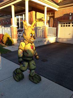 springtrap fivenightsatfreddys costume halloween kidcostumes kids springtrapcostume springtrapcosplay