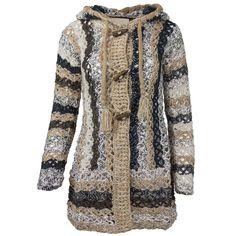 Khujo Damen Long Strickjacke Jacke Grobstrick Knebelverschluss Kapuze Beige in Kleidung & Accessoires, Damenmode, Pullover & Strick | eBay