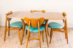 Vintage Retro G Plan Butterfly Chairs And Drop Leaf Table - E Gomme